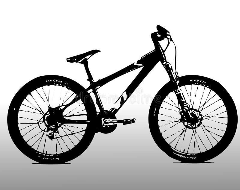 Mountain bike stock illustration