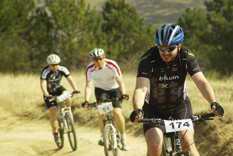 Download Mountain bike competition editorial stock image. Image of people - 24018079