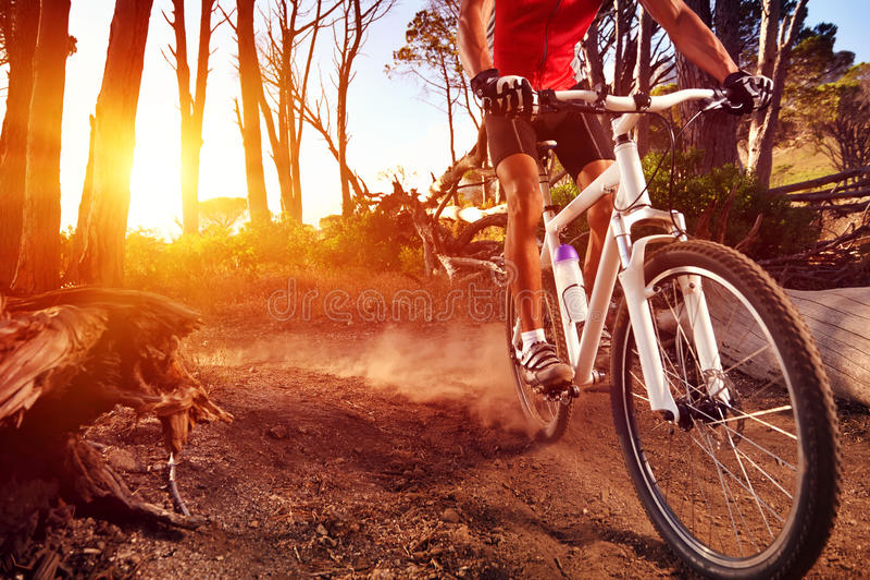 Mountain bike athlete royalty free stock photography