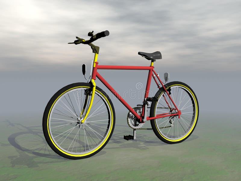 Mountain bike - 3D rendono illustrazione di stock