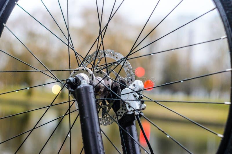 Mountain bike Front Hub imagem de stock royalty free
