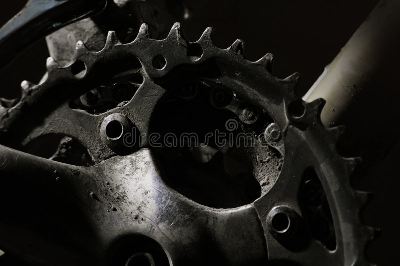 Mountain Bike Gears stock image