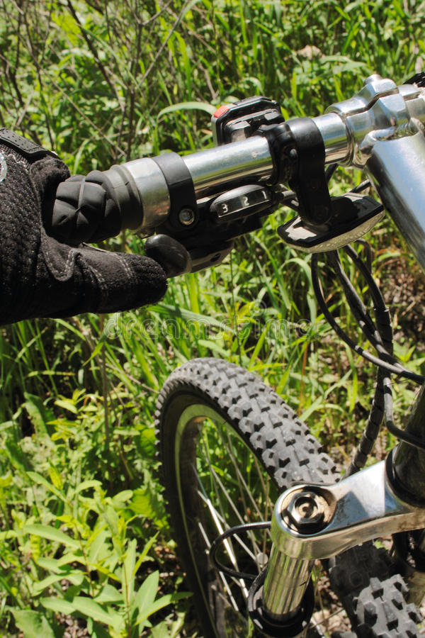 Download Mountain Bike On Grass Royalty Free Stock Images - Image: 9994599