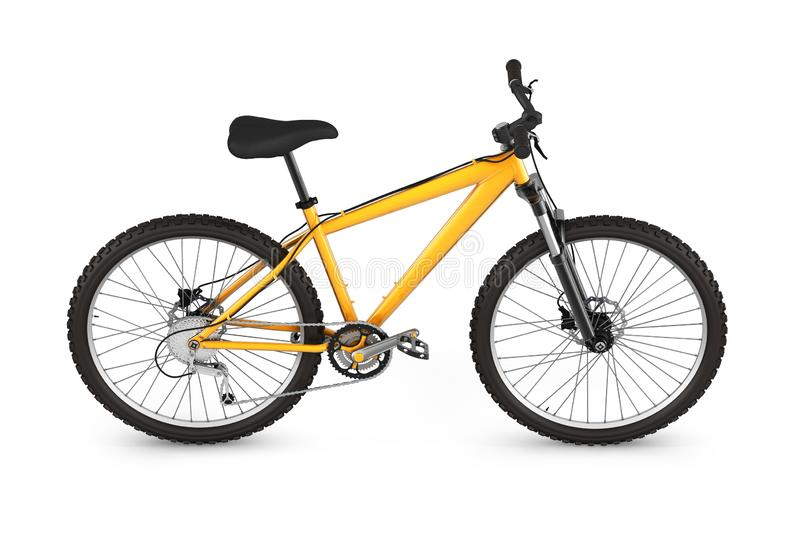 Mountain bike isolated on white background 3d render royalty free illustration