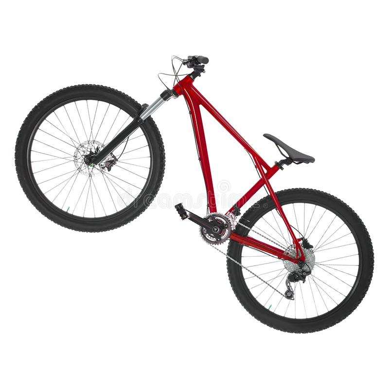 Mountain bike isolated on white. Background stock photos