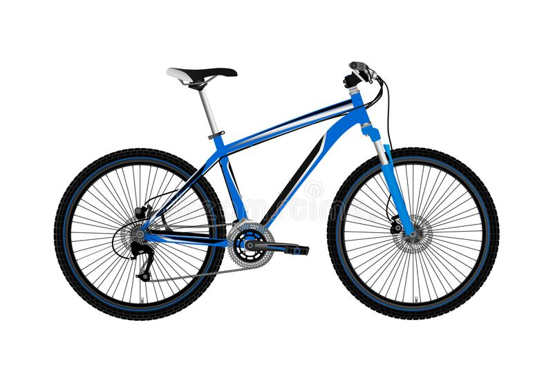 Mountain bike isolato su fondo bianco Illustrazione di vettore illustrazione vettoriale