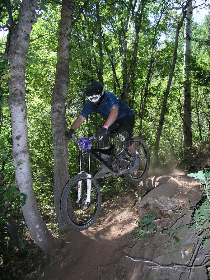 Free Mountain Bike Jump 11 Stock Image - 1472551