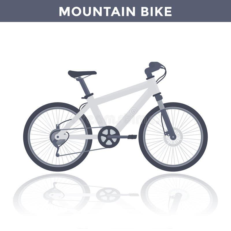Mountain bike no branco ilustração stock