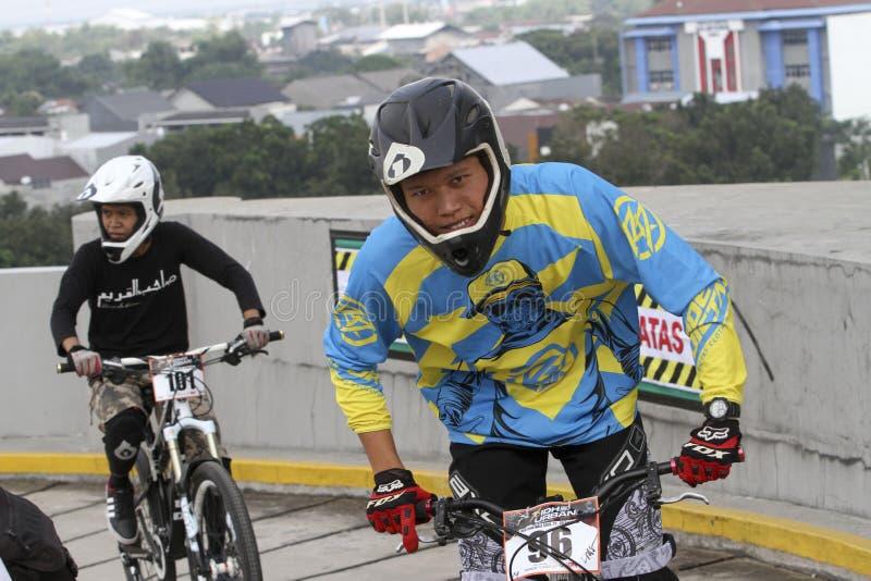 Mountain bike race stock photos