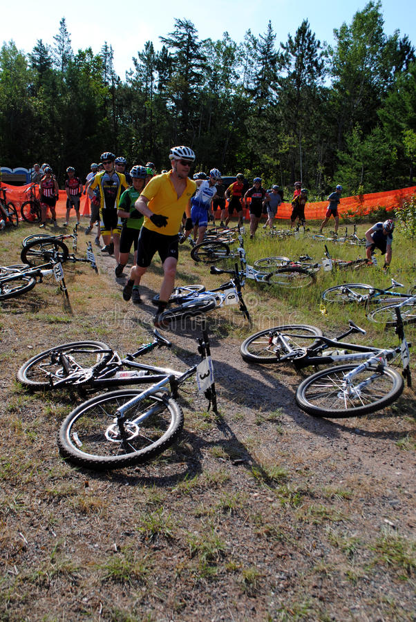 Mountain Bike Racers Editorial Photography