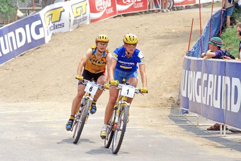 Mountain Bike Racers stock photo