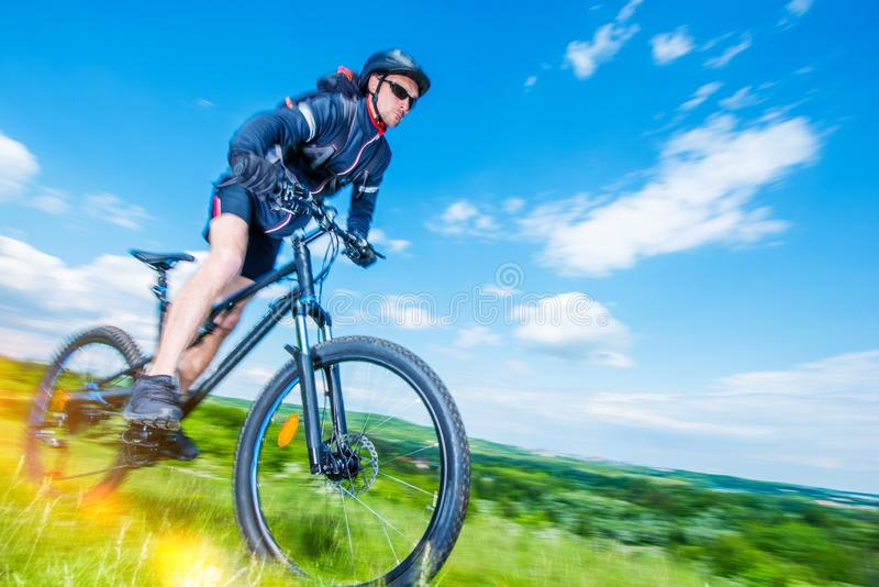 Mountain Bike Rider stock image