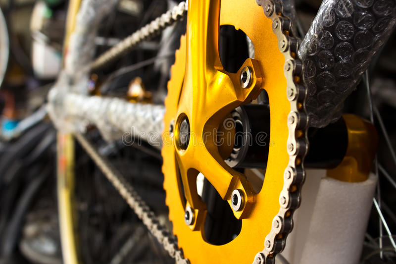 Mountain Bike S Gear And Chain Stock Photos