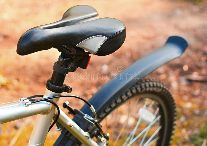 Mountain bike. Seat. Active leisure stock photo