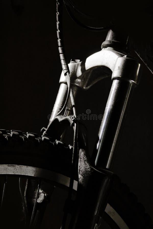Mountain Bike Shocks royalty free stock photography