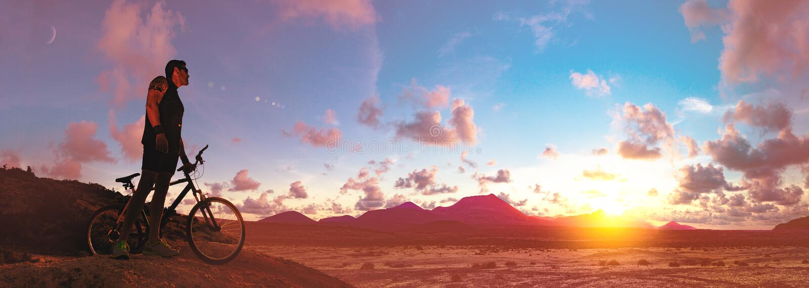 Mountain bike.Sport and healthy life stock images