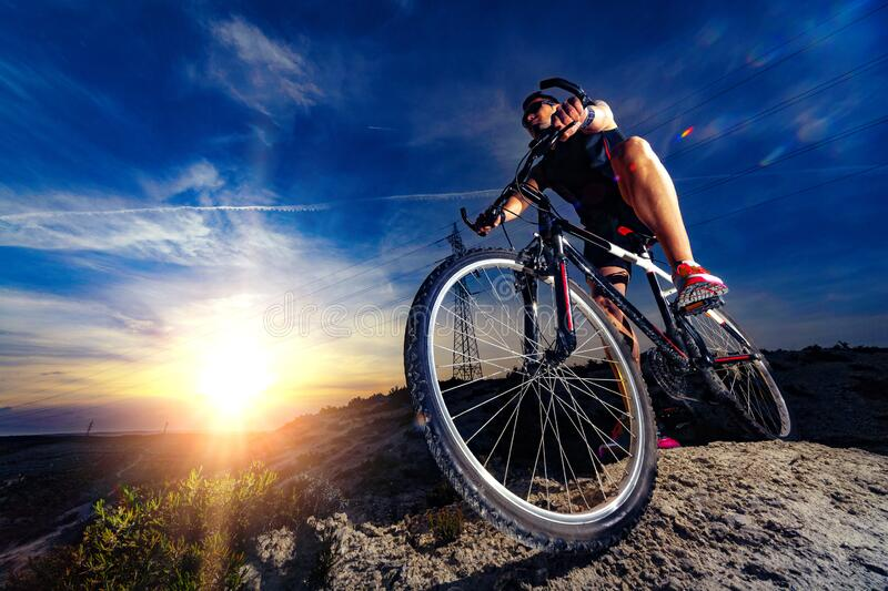 Mountain bike.Sport and healthy life royalty free stock photo