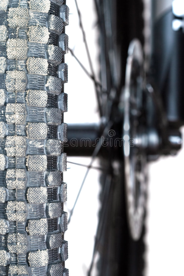 Mountain bike tire royalty free stock images