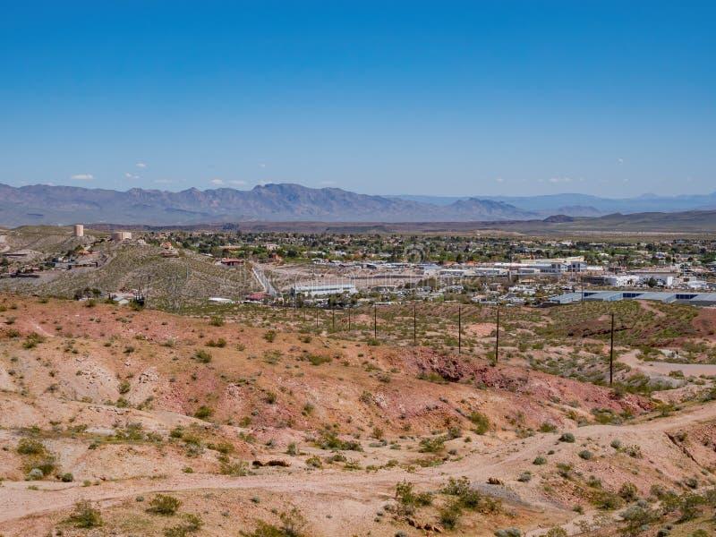 Mountain Bike Trails along the Bootleg Canyon. At Boulder City, Nevada royalty free stock photos