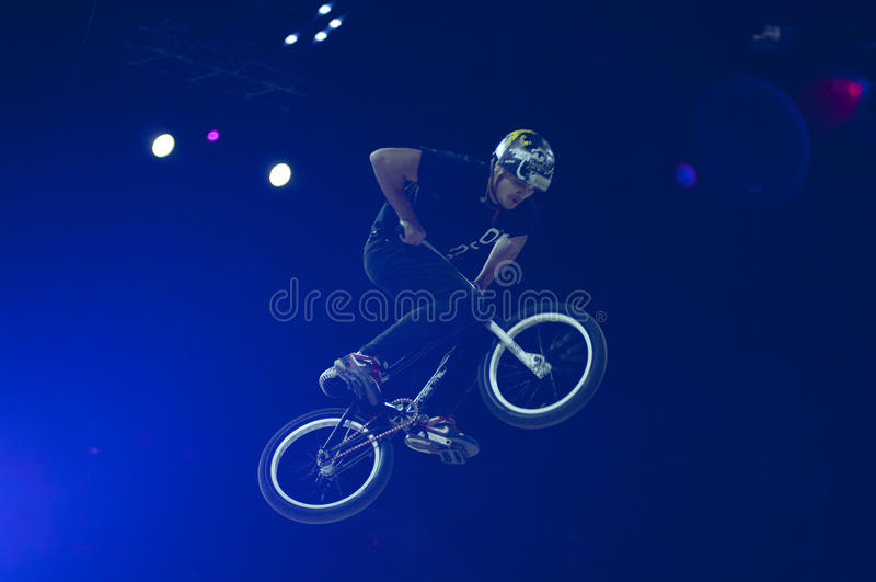 Mountain Bike Trial Rider Editorial Stock Photo