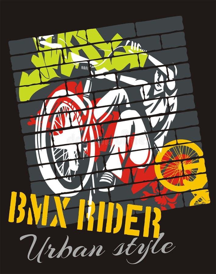 Mountain bike trial - vector design royalty free illustration