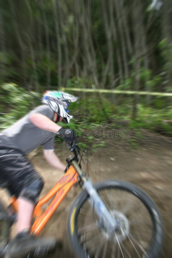 Mountain bike zoom royalty free stock photos