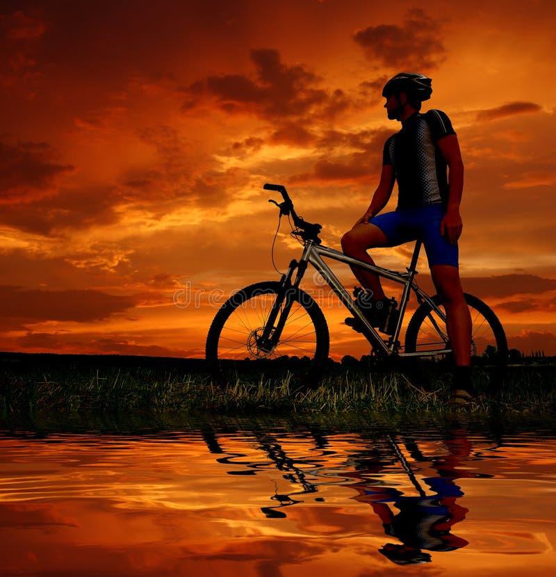Download Mountain biker stock photo. Image of field, sport, reflection - 17589518