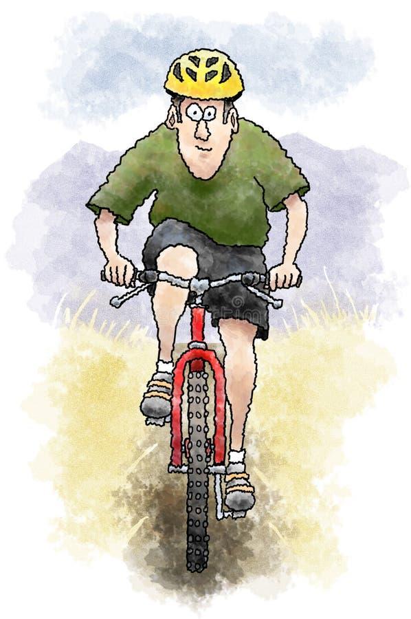 Mountain biker royalty free illustration