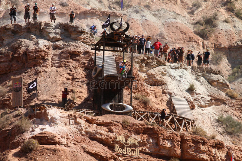 Download Mountain biker cliff drop editorial stock photo. Image of event - 27052508