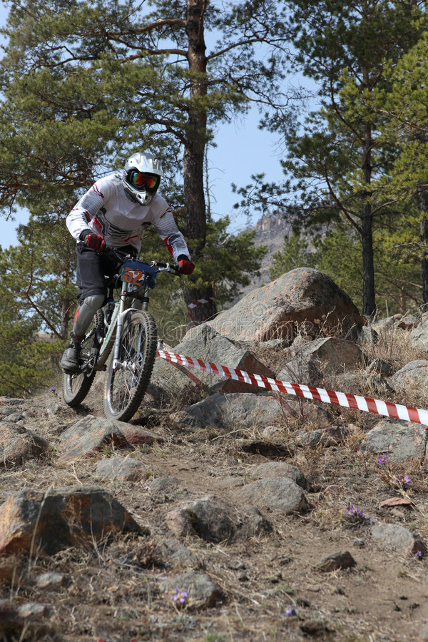 Download Mountain Biker - Downhill Stock Image - Image: 9140251