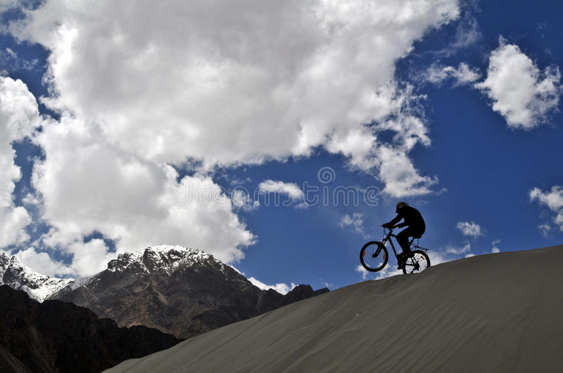 Download Mountain Biker In Himalaya Royalty Free Stock Photos - Image: 14726908