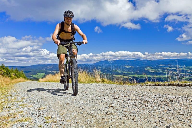 Download Mountain Biker Riding A Bike In Mountains Royalty Free Stock Photos - Image: 21012668