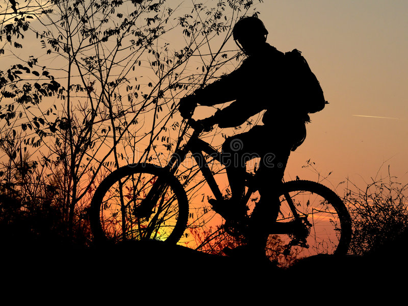 Download Mountain biker silhouette stock photo. Image of extreme - 2017362