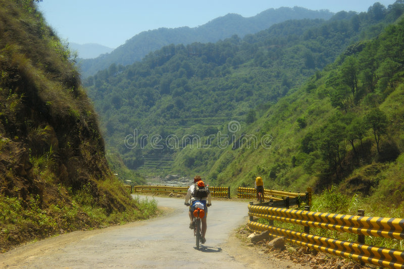 Mountain Bikers. Two Mountain Biker Adventurers in the Philippines royalty free stock photography