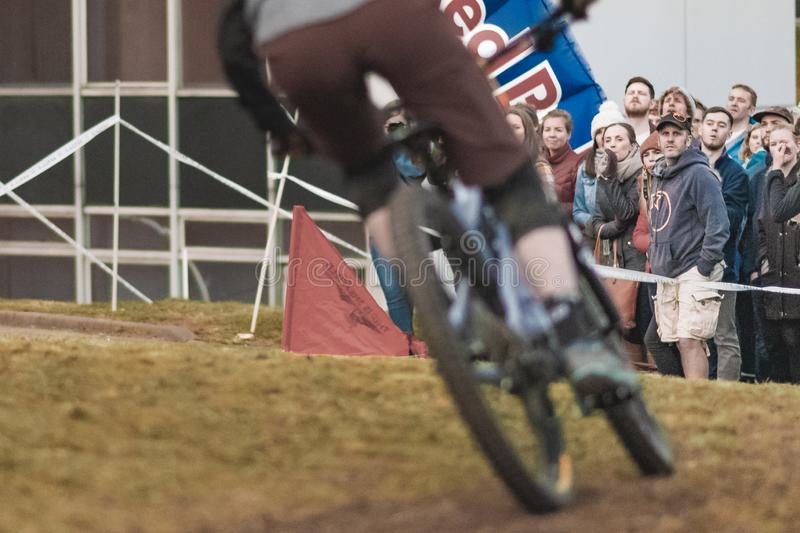 Riders take part in Sheffields Howard Street Dual - 2019 stock photos