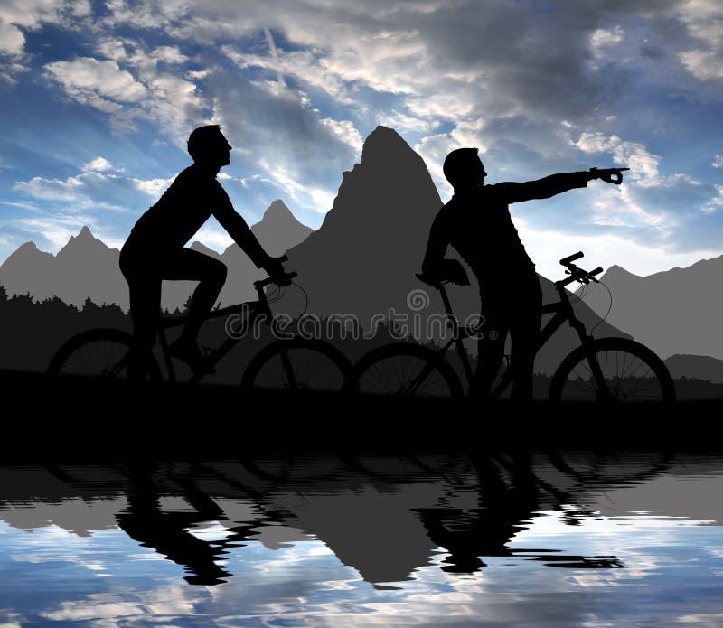 Mountain Bikers Royalty Free Stock Photo