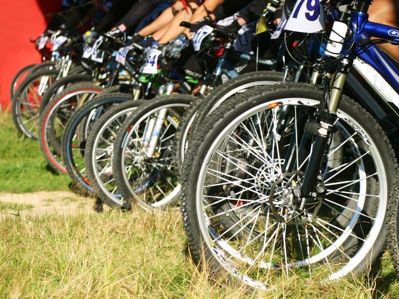 Download Mountain bikes on a start stock image. Image of blur, bike - 1295009