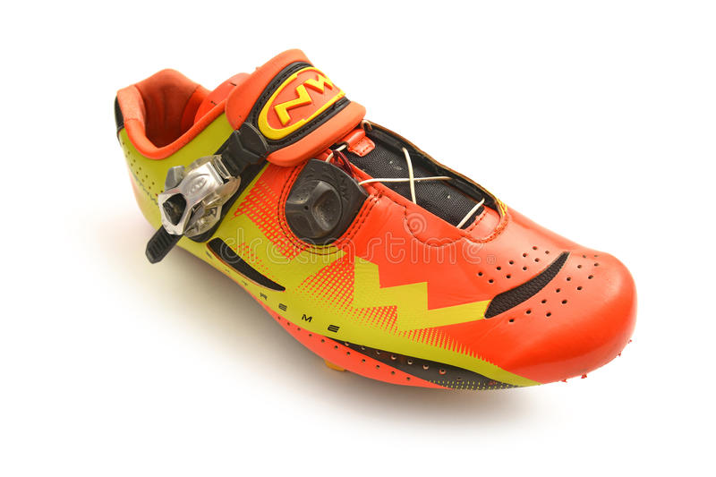Mountain biking shoe royalty free stock image