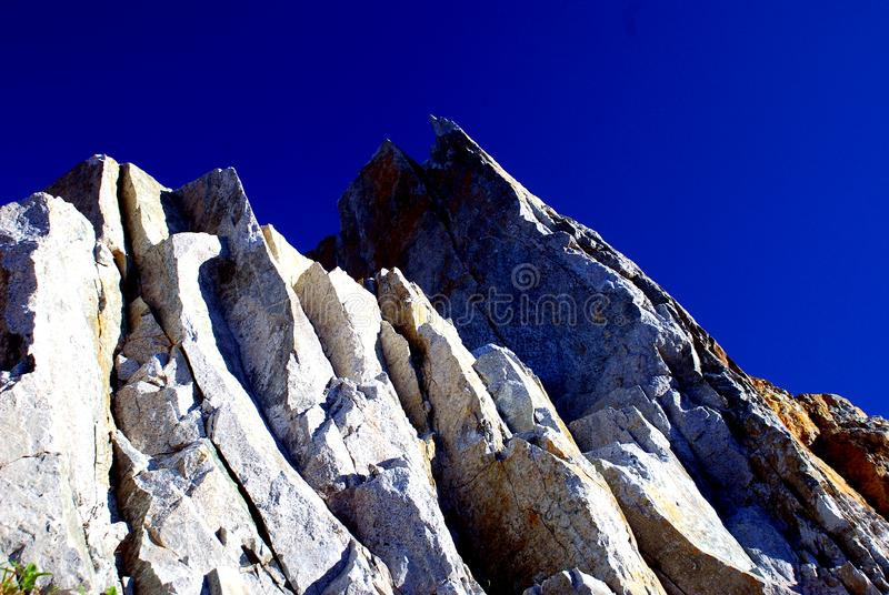 Mountain on the blue sky royalty free stock images