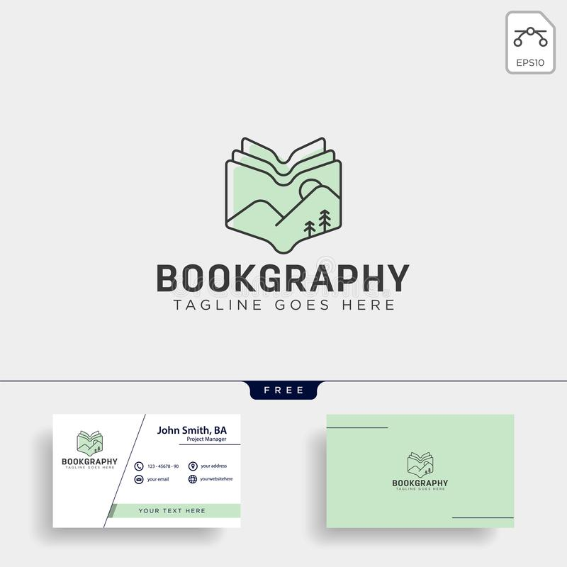Mountain book geography education logo template vector illustration icon element. Isolated - vector stock photography