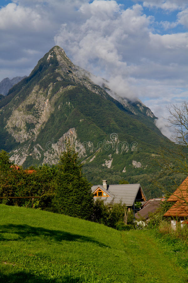 Mountain in Bovec stock photography