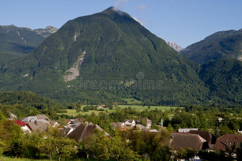 Mountain in Bovec royalty free stock photography