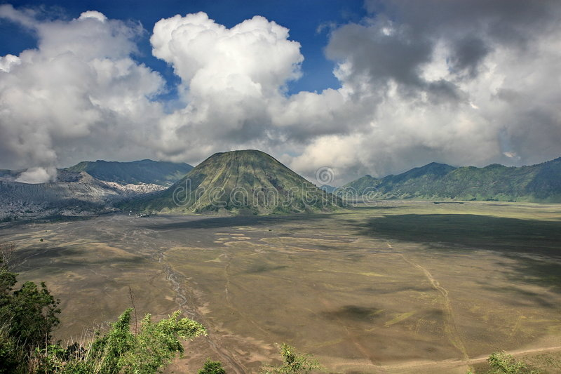Mountain Bromo. The top of mountain Bromo in East Java. The photo was taken in the mornings royalty free stock photos