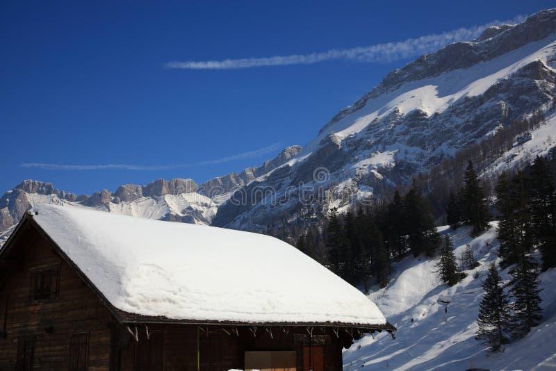 Download Mountain Cabin stock image. Image of snow, switzerland - 13487733