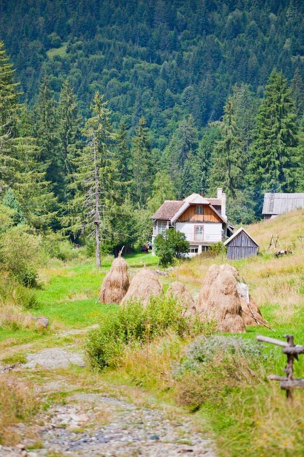 Mountain cabin stock photography