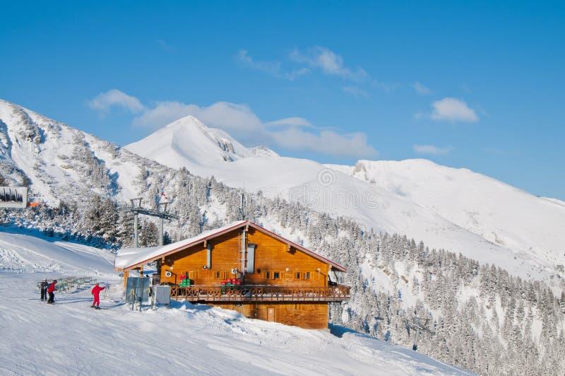 Mountain Cabin. Cabin - restaurant on Bansko ski resort, Pirin mountain, Bulgaria stock photography