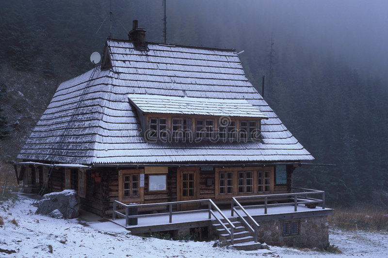 Mountain cabin. Western Tatra Mountains, Poland royalty free stock photography