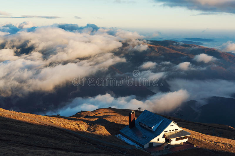 Mountain Cabin At Height Stock Images
