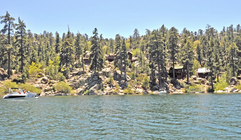 Mountain Cabins/Big Bear Lake royalty free stock image