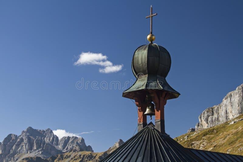 Mountain chapel detail royalty free stock image